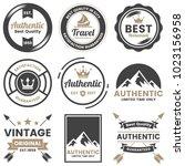 vintage retro vector logo for... | Shutterstock .eps vector #1023156958