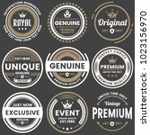 vintage retro vector logo for... | Shutterstock .eps vector #1023156970
