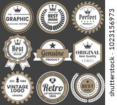 vintage retro vector logo for... | Shutterstock .eps vector #1023156973