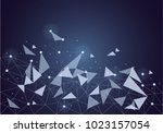 abstract internet connection... | Shutterstock .eps vector #1023157054