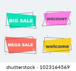 big sale collection flat linear ... | Shutterstock .eps vector #1023164569