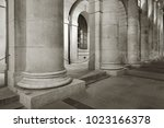 classic column of old... | Shutterstock . vector #1023166378