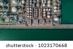 aerial view of tank farm for... | Shutterstock . vector #1023170668