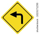 turn left on white background.... | Shutterstock .eps vector #1023171250