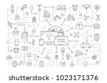 internet of things. wireless... | Shutterstock .eps vector #1023171376