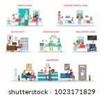 hospital offices illustration... | Shutterstock .eps vector #1023171829