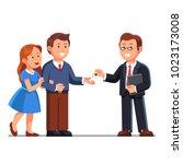 standing realtor business man... | Shutterstock .eps vector #1023173008