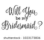 script letter wedding bridal ... | Shutterstock .eps vector #1023173836
