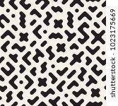 seamless vector chaotic pattern.... | Shutterstock .eps vector #1023175669