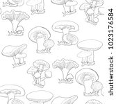 coloring seamless pattern... | Shutterstock .eps vector #1023176584