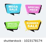 collection of sale discount... | Shutterstock .eps vector #1023178174