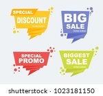 collection of sale discount... | Shutterstock .eps vector #1023181150