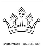 crown icon  crown vector art... | Shutterstock .eps vector #1023183430
