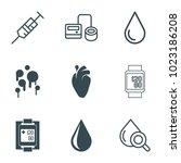 Blood Icons. Set Of 9 Editable...