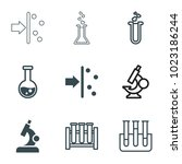 scientific icons. set of 9... | Shutterstock .eps vector #1023186244