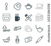 Breakfast Icons. Set Of 16...