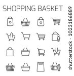 shopping basket related vector... | Shutterstock .eps vector #1023186889