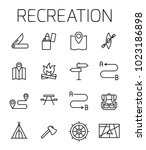 reacreation related vector icon ... | Shutterstock .eps vector #1023186898