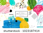 abstract universal art web... | Shutterstock .eps vector #1023187414