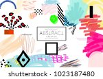 abstract universal art web... | Shutterstock .eps vector #1023187480