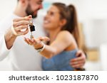 picture showing happy adult... | Shutterstock . vector #1023187870