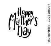 creative funny mother's day... | Shutterstock .eps vector #1023188074