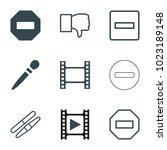 negative icons. set of 9...   Shutterstock .eps vector #1023189148