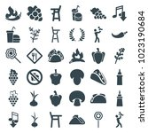 eating icons. set of 36... | Shutterstock .eps vector #1023190684