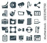 data icons. set of 25 editable... | Shutterstock .eps vector #1023190750
