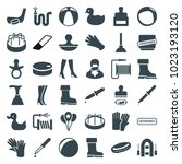 rubber icons. set of 36... | Shutterstock .eps vector #1023193120