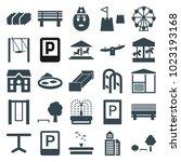 Park Icons. Set Of 25 Editable...