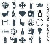club icons. set of 25 editable... | Shutterstock .eps vector #1023193204