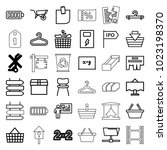 empty icons. set of 36 editable ... | Shutterstock .eps vector #1023198370