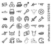 military icons. set of 36...   Shutterstock .eps vector #1023199858