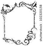 black grunge | Shutterstock .eps vector #102320158