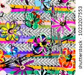 seamless geometric pattern... | Shutterstock .eps vector #1023207553