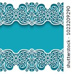 vintage frame with ornamental... | Shutterstock .eps vector #1023209290