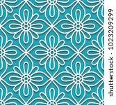 cutout paper ornament  vector... | Shutterstock .eps vector #1023209299