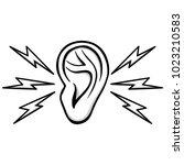 earache illustration   a vector ...   Shutterstock .eps vector #1023210583