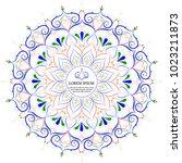flower mandala vintage... | Shutterstock .eps vector #1023211873