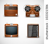 Vintage Electronics Vector Icons