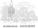 Old Russian Church On An Islan...