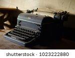 old  vintage  dusty typewriter | Shutterstock . vector #1023222880