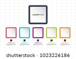colorful square infographics...   Shutterstock .eps vector #1023226186