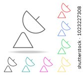 satellite dish colored icons.... | Shutterstock .eps vector #1023227308