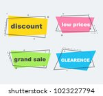 grand sale  discount  clearence ... | Shutterstock .eps vector #1023227794