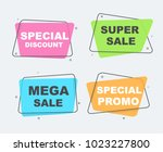 mega sale  special promo and... | Shutterstock .eps vector #1023227800