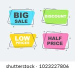 flat sale collection. linear... | Shutterstock .eps vector #1023227806