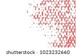 light red vector layout with... | Shutterstock .eps vector #1023232660