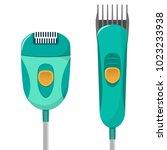 modern electric epilator for...   Shutterstock .eps vector #1023233938